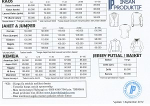 price list ip september 2014 fix